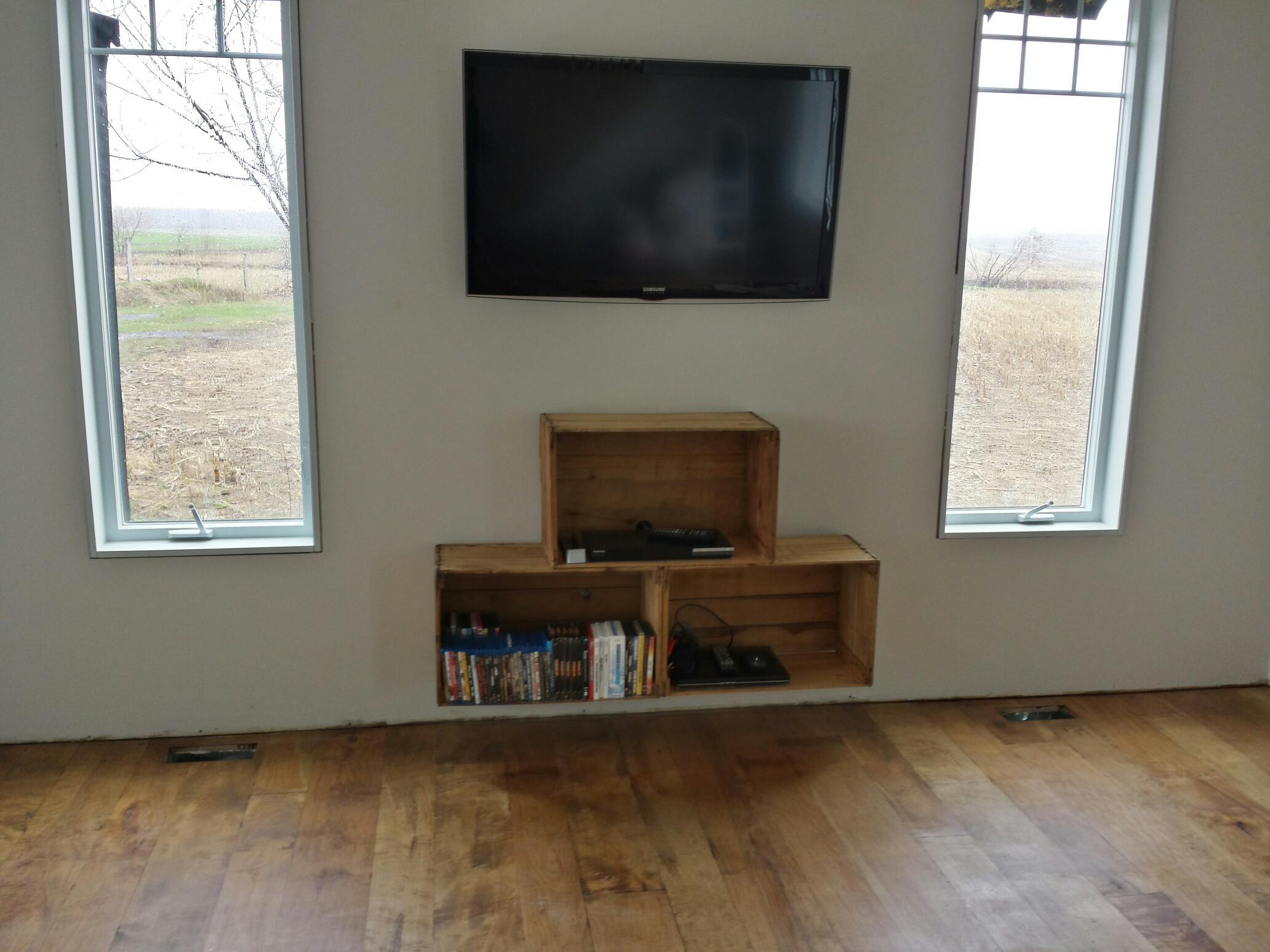 Meuble bois massif sur mesure qu bec rustik meubles for Meuble audio video