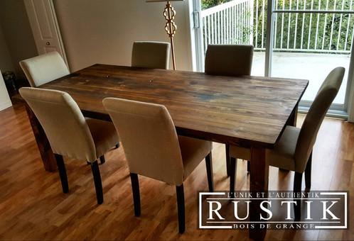 magnifique table de cuisine rustik | rustik meubles et design ... - Table De Cuisine Sur Mesure