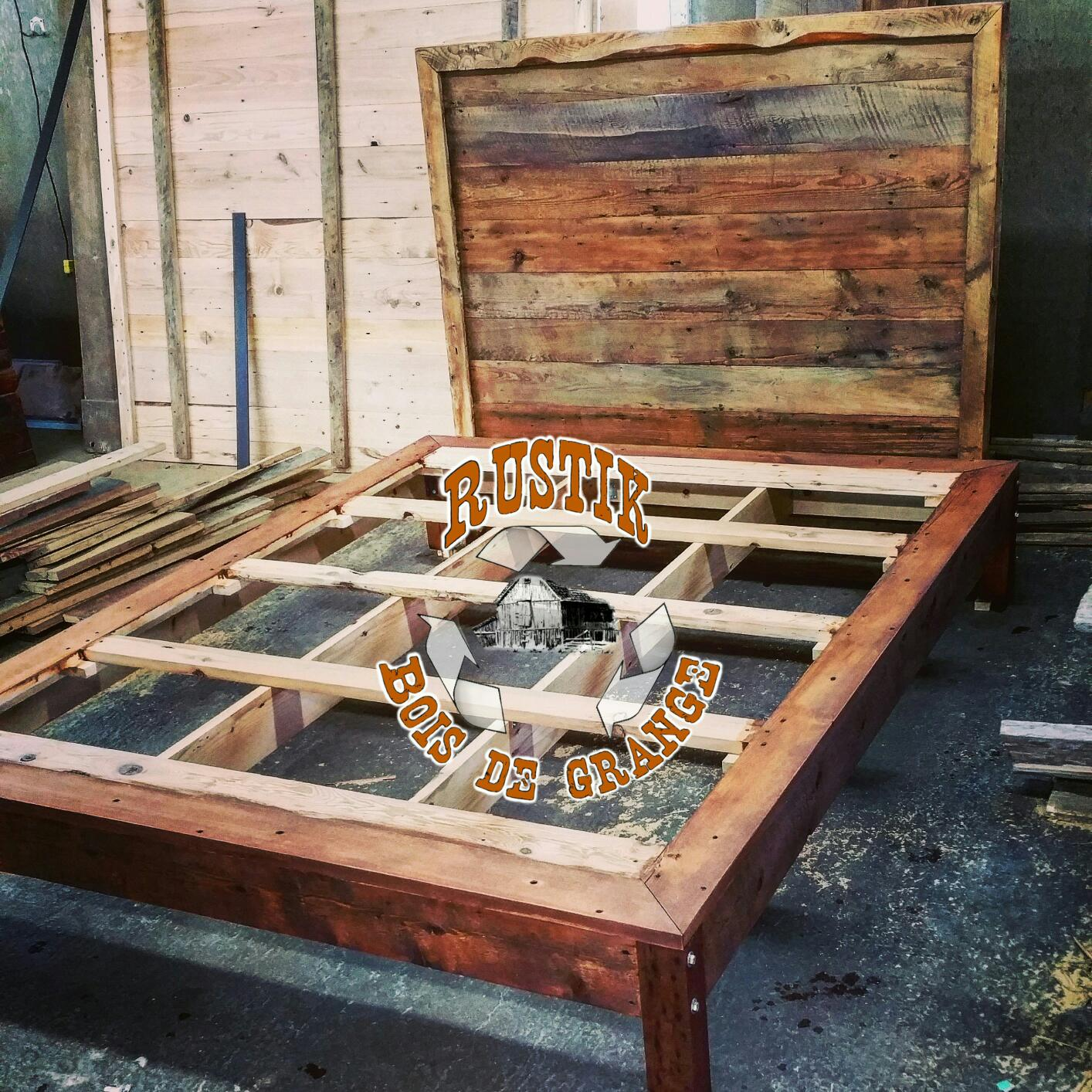 Tete De Lit Porte De Grange mobiliers-de-chambres-a-coucher | granby | rustik meubles