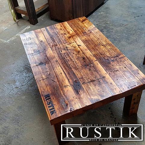 Tables bars comptoirs et lots granby rustik meubles - Dessus de comptoir en bois ...