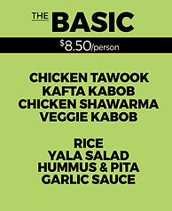 Yala Kol's BASIC Catering Option