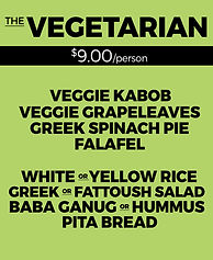 Yala Kol's VEGETARIAN Catering Option
