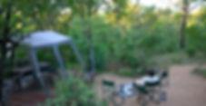 Tented safari camp, camping, volunteers