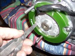 Sjekk av klaring mellom rotor og sta