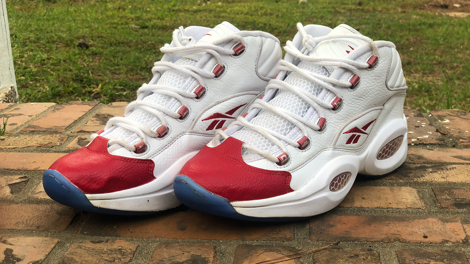 reebok question red toe