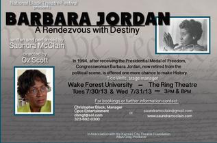 Barbara Jordan: A Rendezvous with Destiny