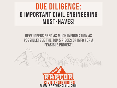 Due Diligence before Closing? 5 Important Civil Engineering Must-Haves!