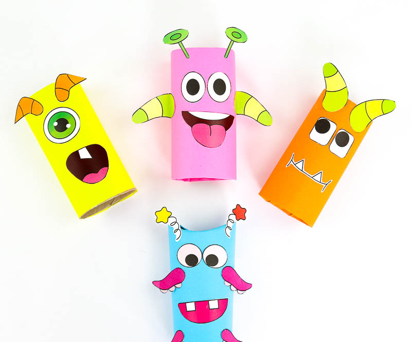 Toilet roll craft for kids monsters