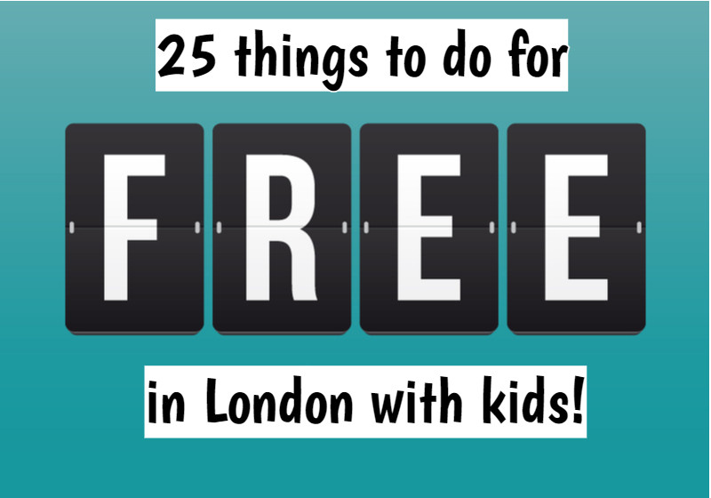 things to do for FREE in London with kids