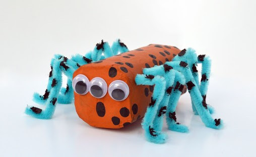 Toilet roll craft for kids spider