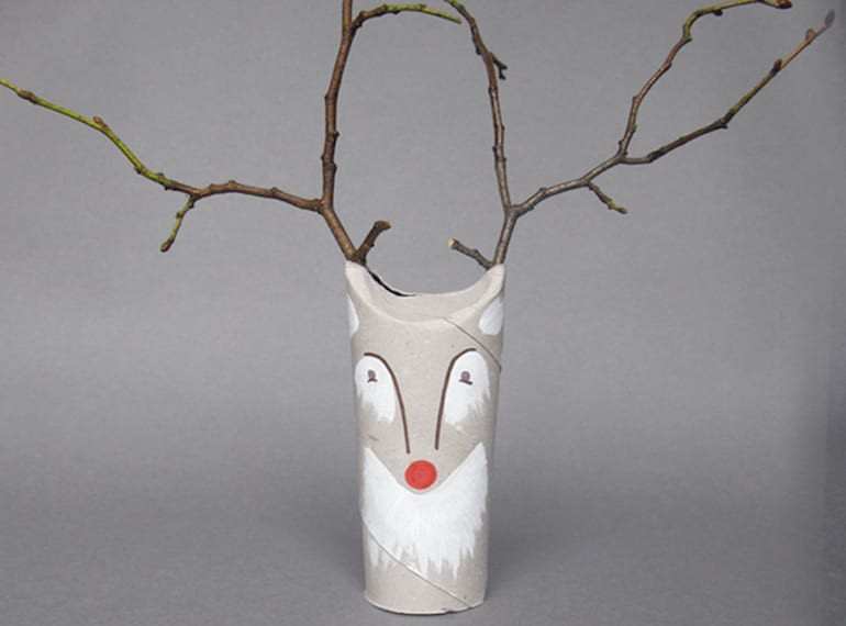 Christmas toilet roll craft