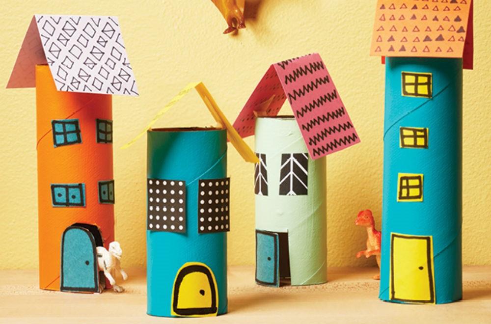 Toilet roll craft for kids village
