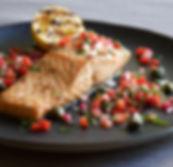 Earl Grey Salmon and Strawberry Salsa