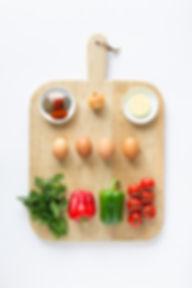 Turkish Scrambled Eggs Ingredients Board