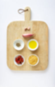 Greek Fava Dip Ingredients Board