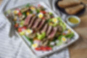 Miso Tuna Salad Niçoise with Wasabi Dressing