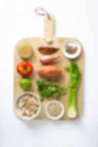 Peruvian Chicken Soup Ingredients Board