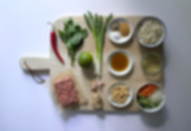 Vietnamese Bun Cha Ingredients