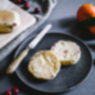 CLEMENTINE & CRANBERRY ENGLISH MUFFINS