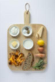 Mushroom French Toast Ingredients Board
