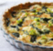 Mustard Leaves and Gruyère Cheese Quiche