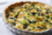 Mustard Leaf and Gruyère Cheese Quiche