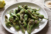 Padron Peppers with Lemon Zest