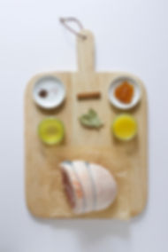 Pineapple Glazed Gammon Ingredients Board