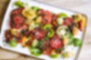 Glorious Tomato Salad with Olive Crumb