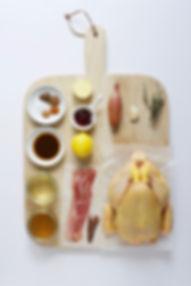 Gentleman's Butte Roast Chicken Ingredients Board