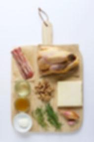 Guinea Fowl Pie Ingredients Board