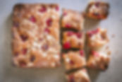 Raspberry Almond Traybake