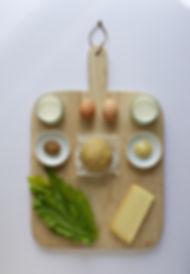 Mustard Leaf Quiche Ingredients