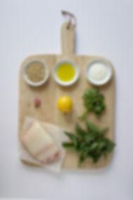 Halibut with Nettle Pesto Ingredients