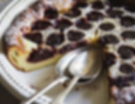 Cherry Clafoutis Close Up