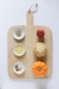 Pumpkin,Celeriac & Apple Soup Ingredients Board