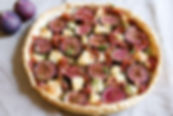 Fig, Goats Cheese and Bayonne Ham Tart