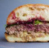 Venison Smash Burger Cross Section