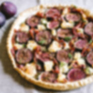 FIG, GOAT'S CHEESE & BAYONNE TART