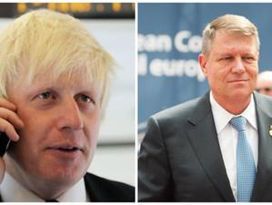 Boris Johnson i-a solicitat o convorbire telefonică lui Klaus Iohannis sperând că îl va convinge de