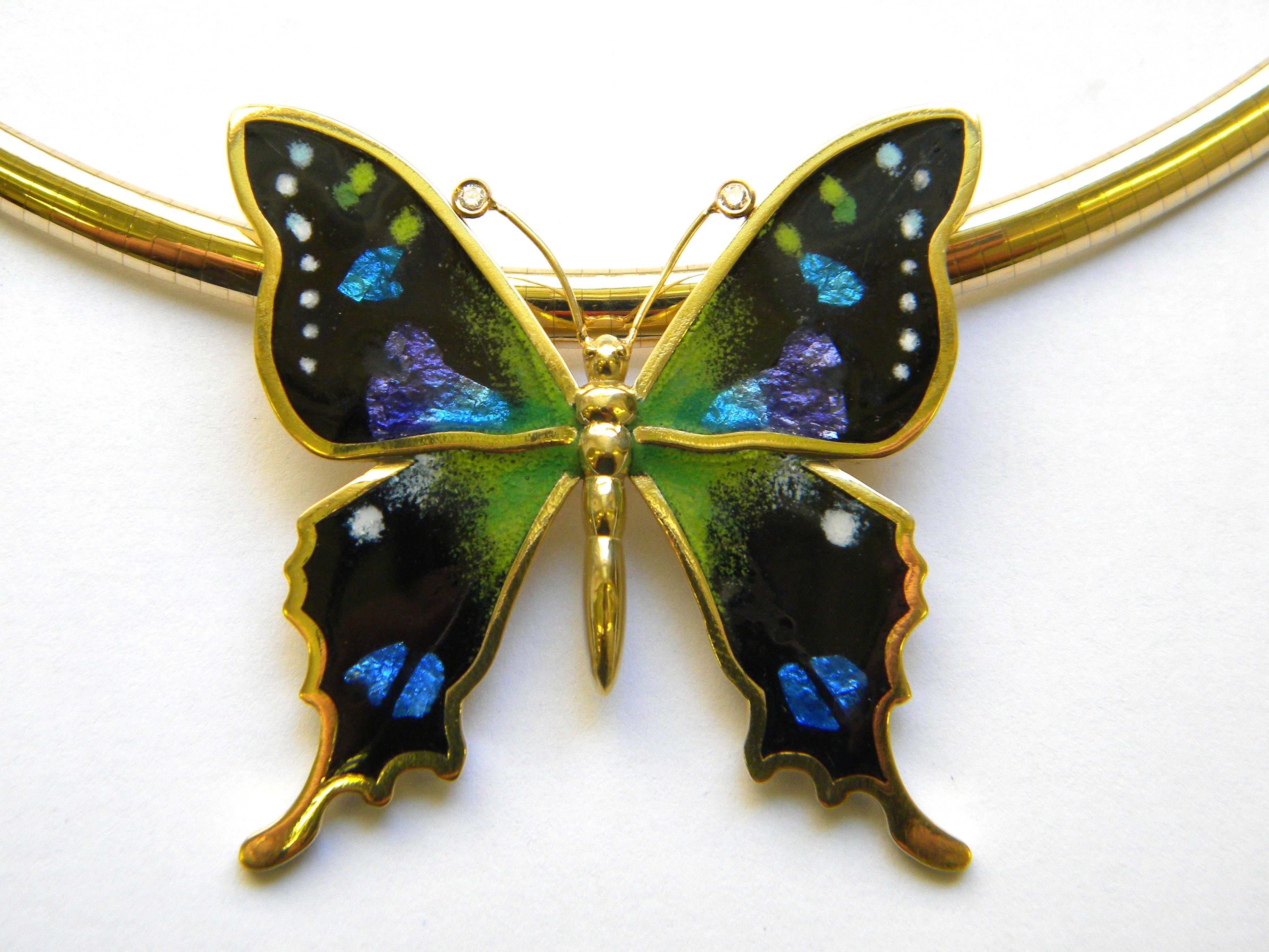 18k Gold Swallowtail Butterfly