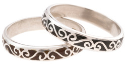 Sterling Silver Champlevé Band