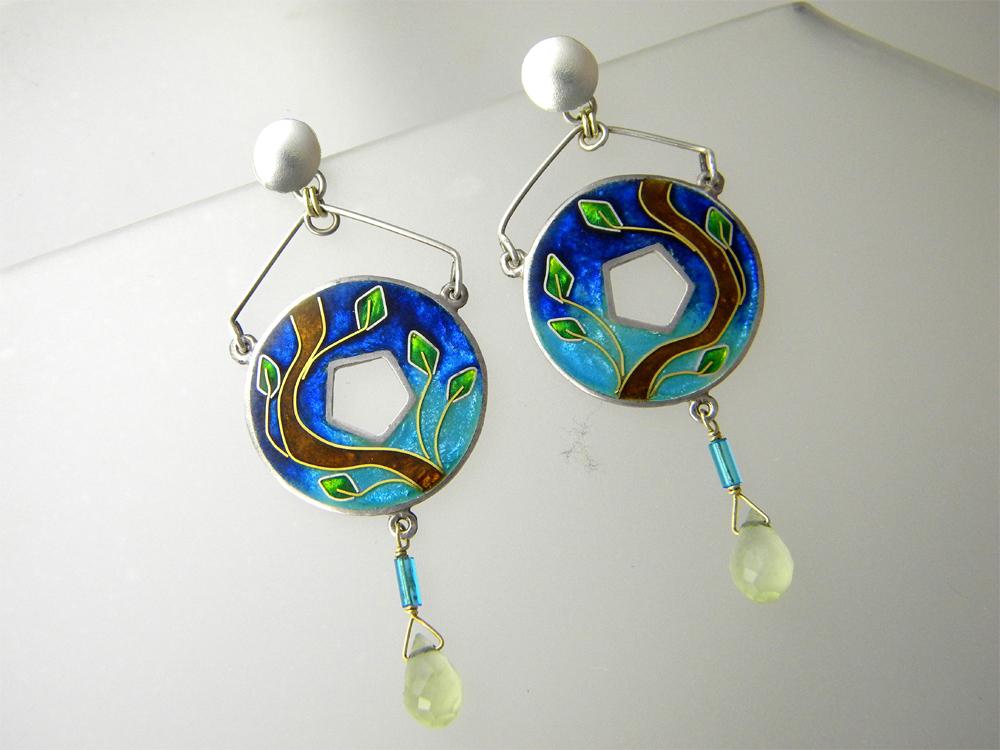 Cloisonné Enamel Earrings