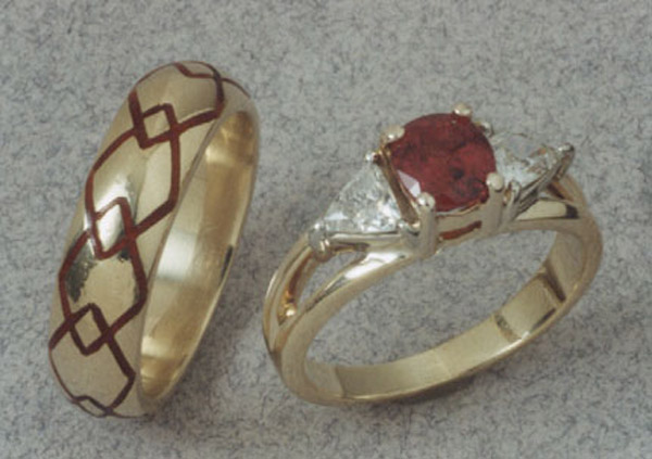 Ruby Wedding Set