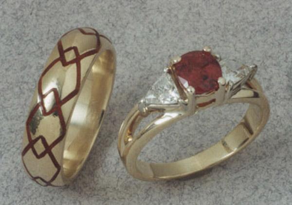 Ruby Wedding Set