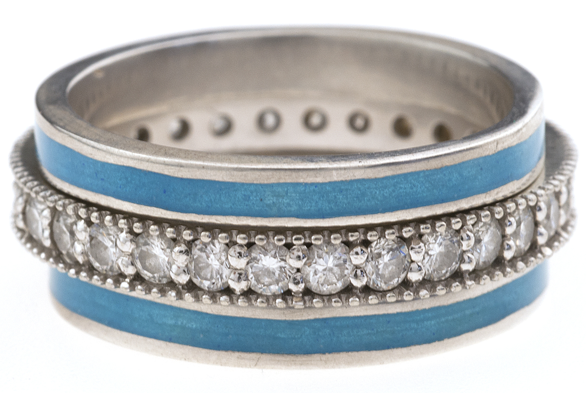 Sky Blue with Diamond Stackables
