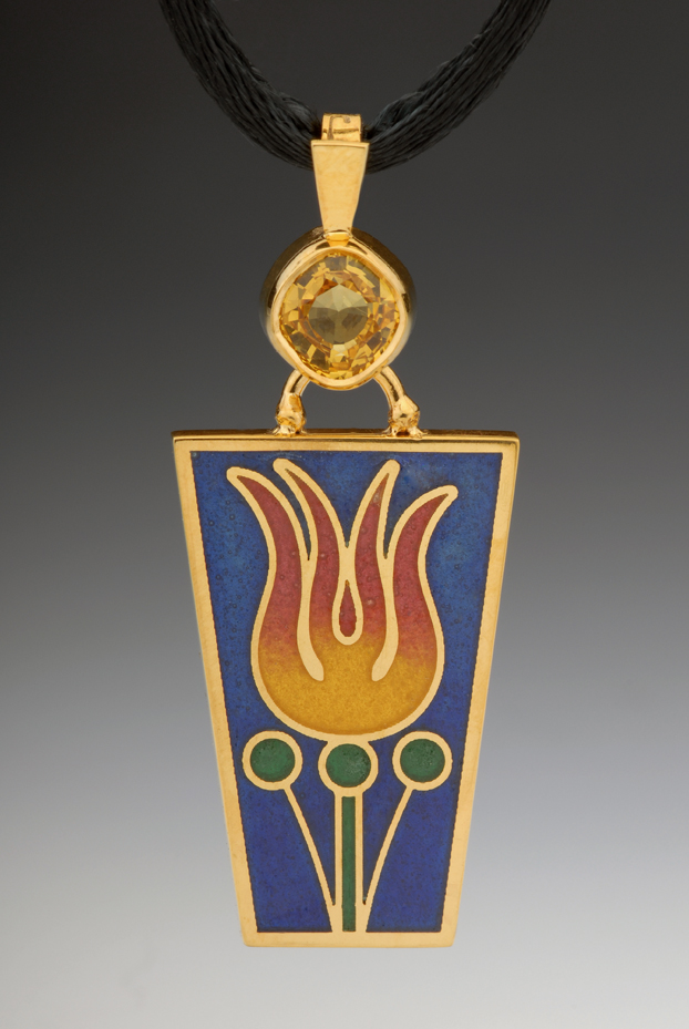 Fire Flower Pendant