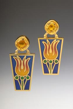 Fire Flower Earrings