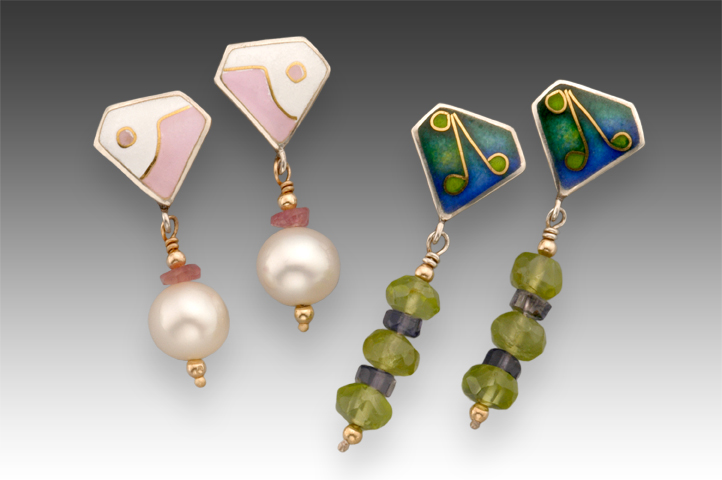 Cloisonné Dangle Earrings