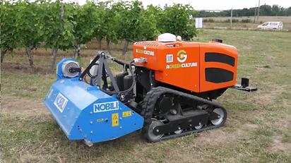 [ VIDEO] Ceol, le robot viticole sur chenilles qui travaille dans les terrains en pente